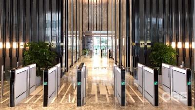 商业写字楼 | OBE旋转门及闸机,助力上海世贸旧貌换新颜